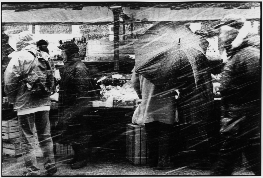 snowing at fish market-Venice 2000